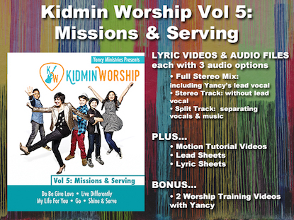Shine and serve worship bundle video worship song track with lyrics kidmin worship vol 5 missions and serving stopboris Images