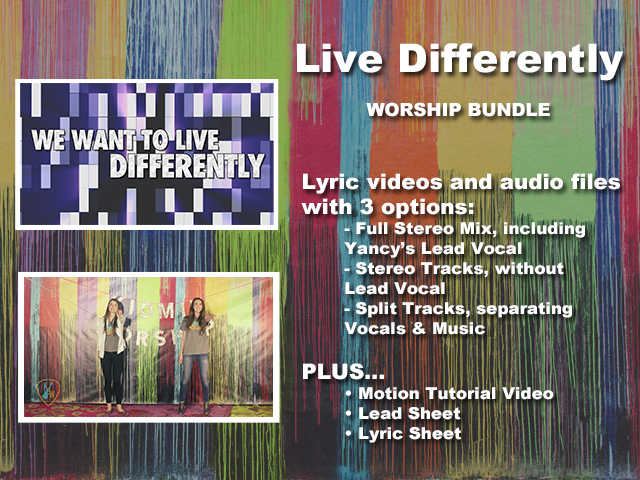 LIVE DIFFERENTLY: WORSHIP BUNDLE