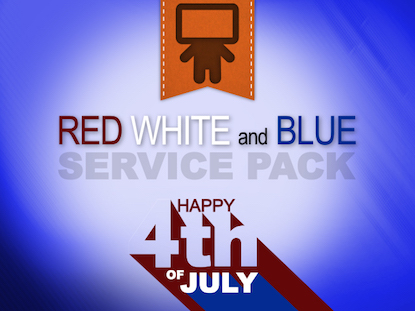 RED WHITE AND BLUE SERVICE PACK