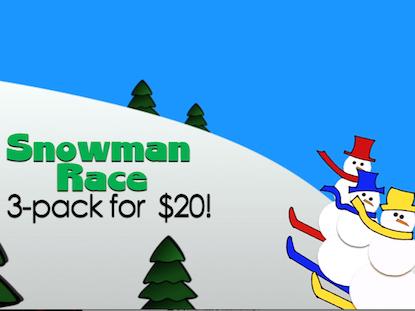 SNOWMAN RACE 3 PACK