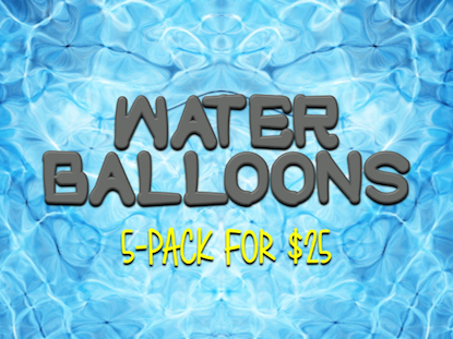 WATER BALLOON: 5-PACK