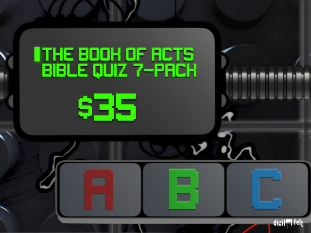 THE BOOK OF ACTS BIBLE QUIZ 7-PACK