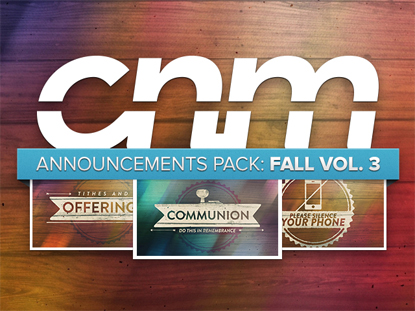 ANNOUNCEMENTS PACK: FALL VOL. 3