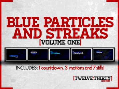 BLUE PARTICLES AND STREAKS: VOLUME ONE