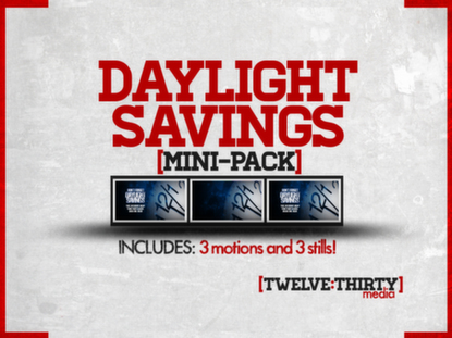 DAYLIGHT SAVINGS: MINI-PACK