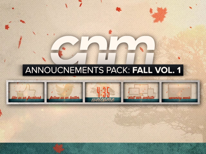 ANNOUNCEMENT PACK: FALL VOL. 1