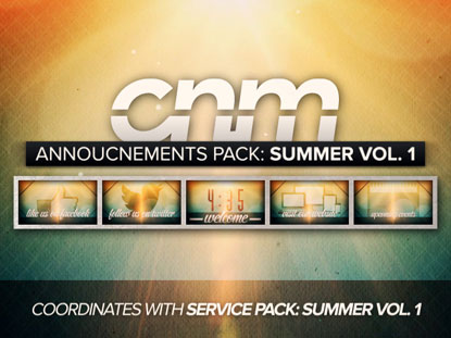 ANNOUNCEMENTS PACK: SUMMER VOL. 1