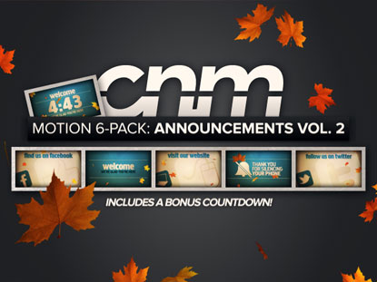 MOTION 6-PACK: ANNOUNCEMENTS VOL. 2