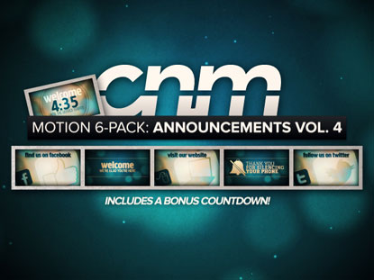 MOTION 6-PACK: ANNOUNCEMENTS VOL.4