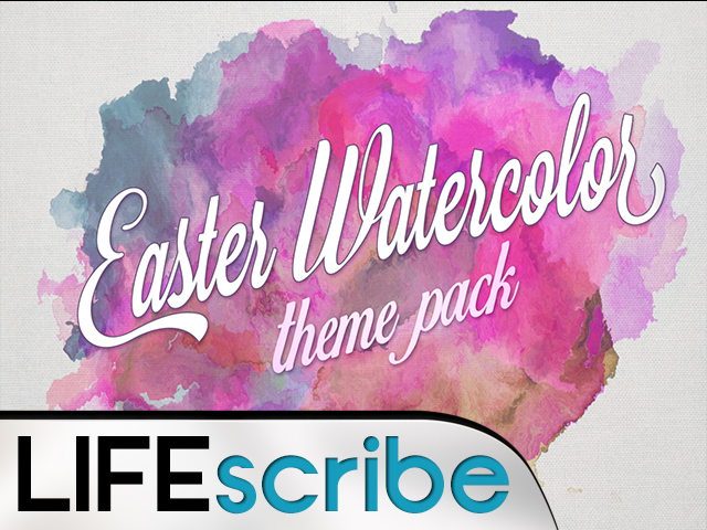EASTER WATERCOLOR THEME PACK