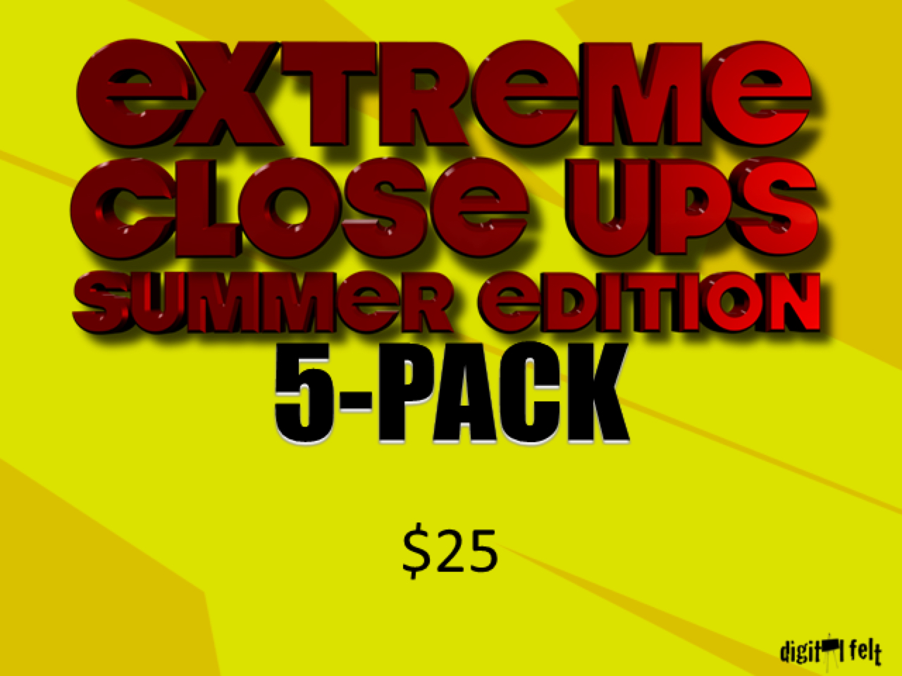 EXTREME CLOSE UPS SUMMER 5 PACK