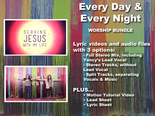every day and every night bundle yancy ministries song tracks worshiphouse kids. Black Bedroom Furniture Sets. Home Design Ideas
