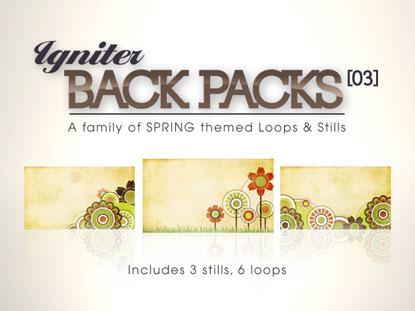 BACK PACKS 03: FLOWERS