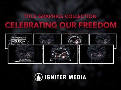 CELEBRATING OUR FREEDOM TITLE GRAPHICS COLLECTION