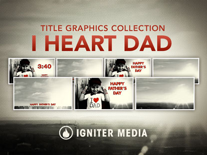 I HEART DAD GRAPHICS COLLECTION