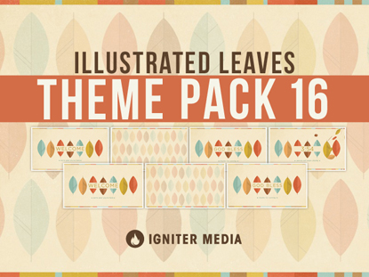 THEME PACK 16: ILLUSTRATED LEAVES