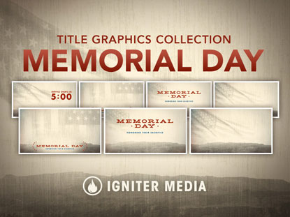 MEMORIAL DAY TITLE GRAPHICS COLLECTION