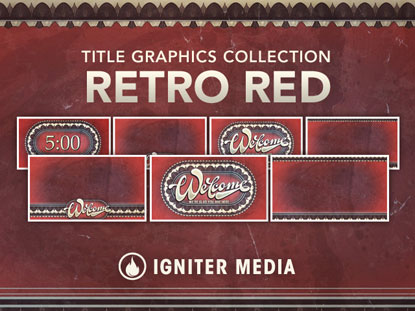 RETRO RED TITLE GRAPHICS COLLECTION
