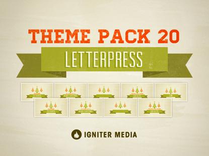 THEME PACK 20: LETTERPRESS