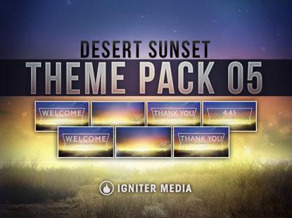 THEME PACK 05: DESERT SUNSET
