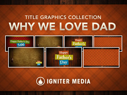 WHY WE LOVE DAD TITLE GRAPHICS COLLECTION