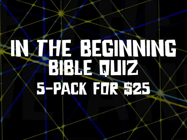 IN THE BEGINNING BIBLE QUIZ: 5 PACK