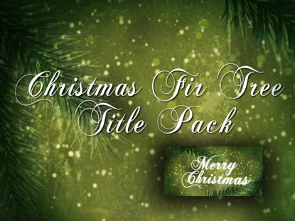 CHRISTMAS FIR TREE TITLE PACK