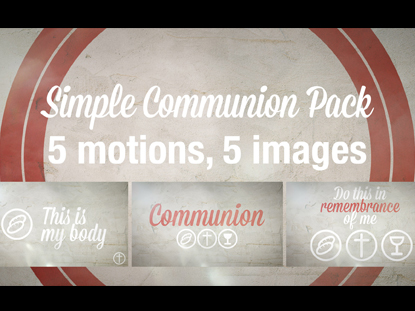 SCRIPT COMMUNION PACK