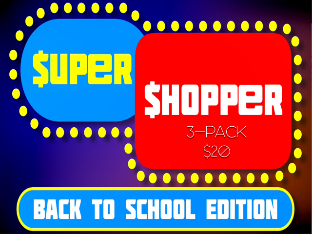 SUPER SHOPPER BACK TO SCHOOL 3-PACK