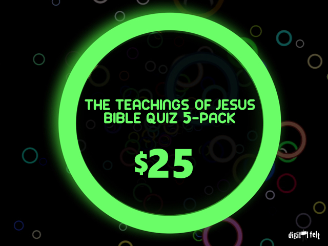 THE TEACHINGS OF JESUS BIBLE QUIZ 5-PACK