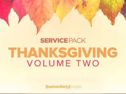 THANKSGIVING VOLUME 2: SERVICE PACK