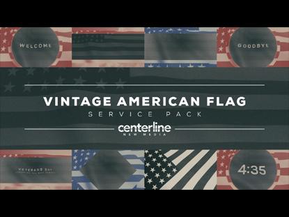 VINTAGE AMERICAN FLAG SERVICE PACK