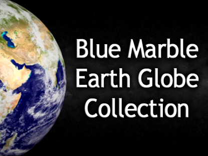BLUE MARBLE EARTH GLOBE COLLECTION
