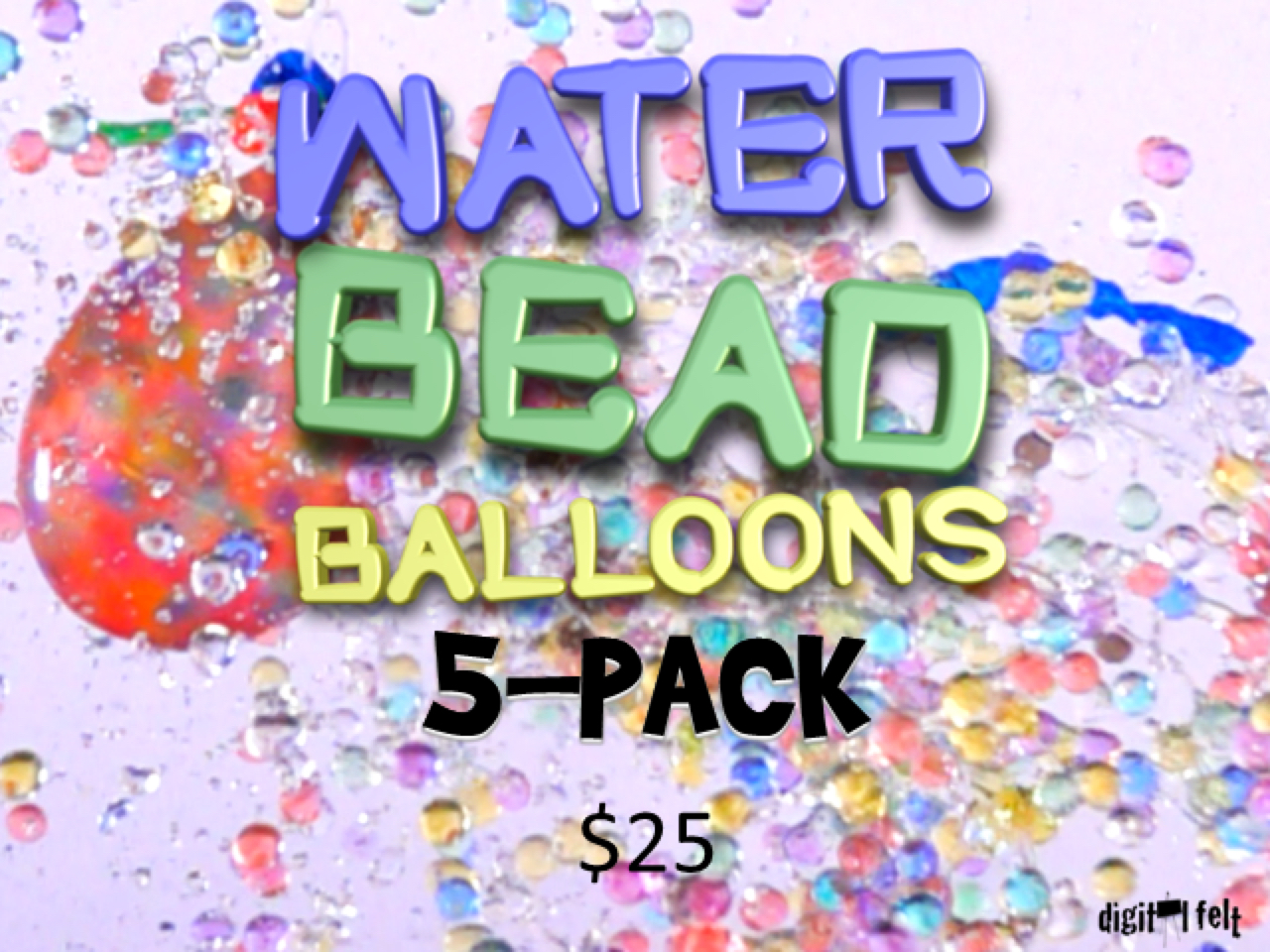 WATER BEAD BALLONS 5 PACK