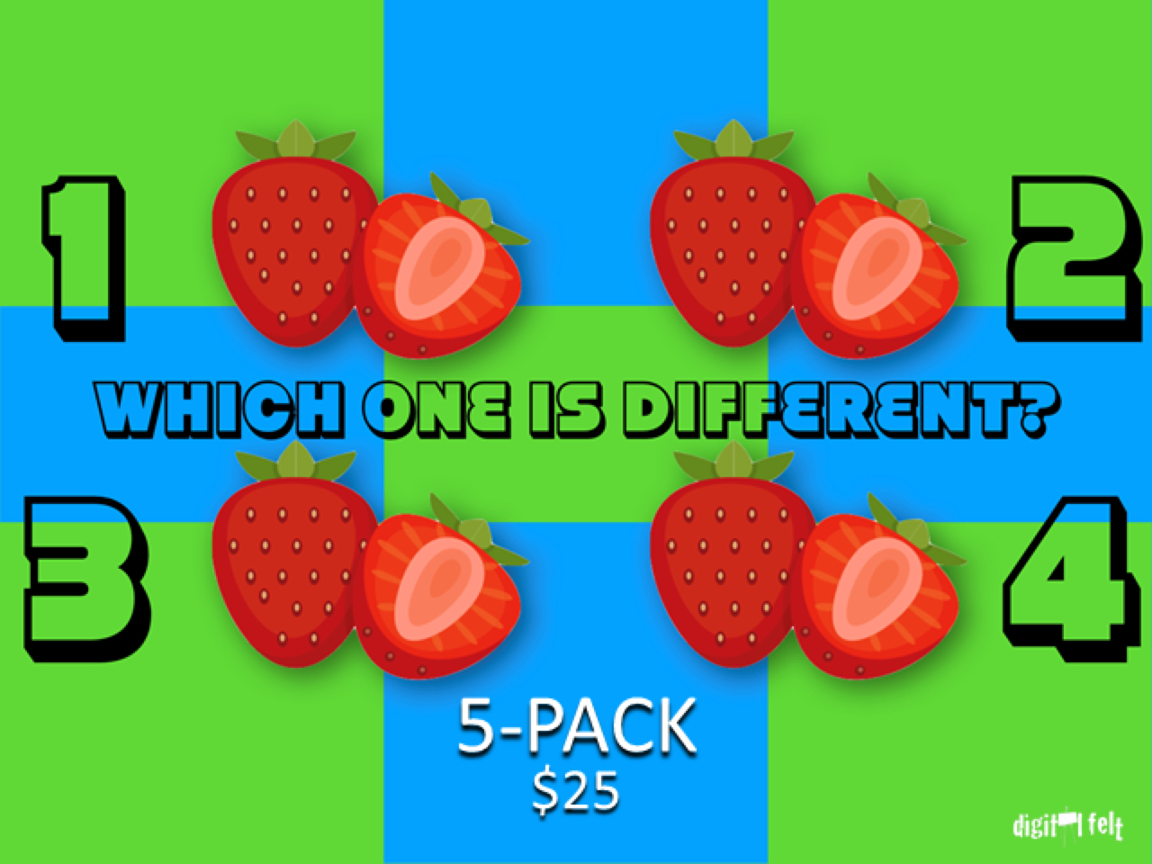 WHICH ONE IS DIFFERENT SUMMER 5 PACK