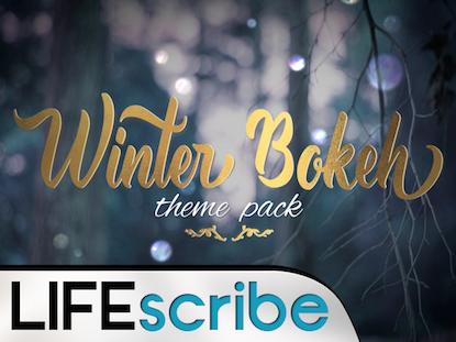 WINTER BOKEH THEME PACK