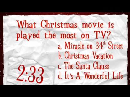 graphic regarding Christmas Movie Trivia Printable named Xmas Online video TRIVIA