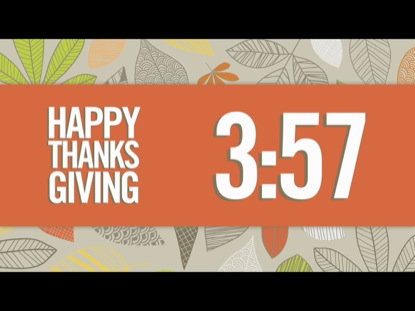 MODERN GIVE THANKS COUNTDOWN