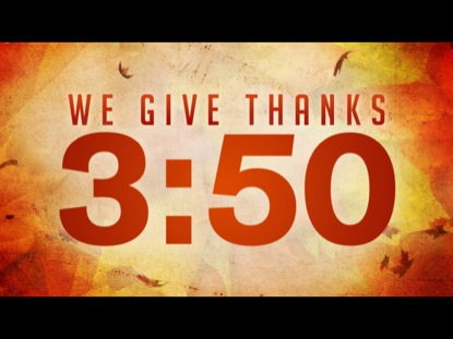 WE GIVE THANKS COUNTDOWN