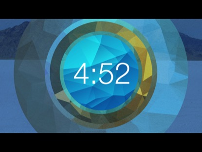 BLUE POLYGONAL CIRCLE COUNTDOWN