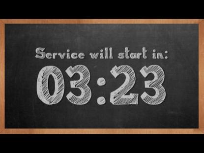 CHALK BOARD COUNTDOWN