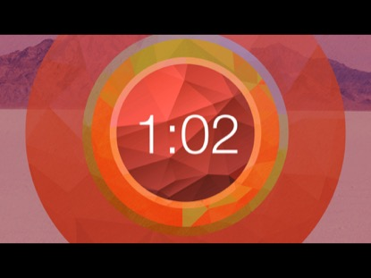 RED POLYGONAL CIRCLE COUNTDOWN