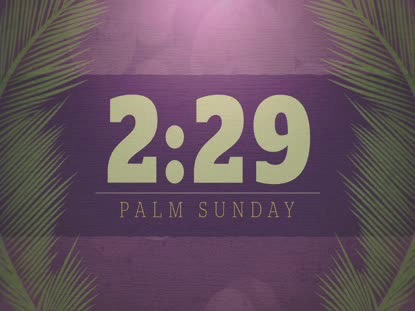 PALM SUNDAY BOKEH COUNTDOWN