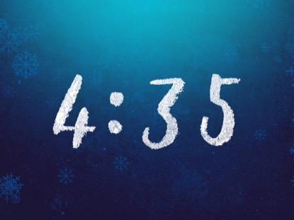 RUSTIC WINTER SNOW COUNTDOWN