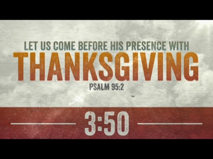 THANKSGIVING CLOUDS VERSES COUNTDOWN