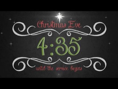 VINTAGE CHRISTMAS EVE SERVICE COUNTDOWN