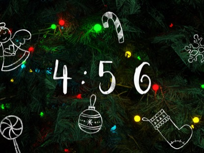 O CHRISTMAS TREE WITH DOODLES COUNTDOWN