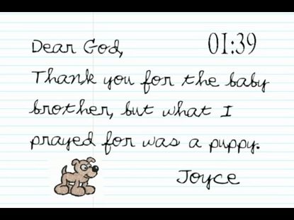 LETTERS TO GOD FROM CHILDREN