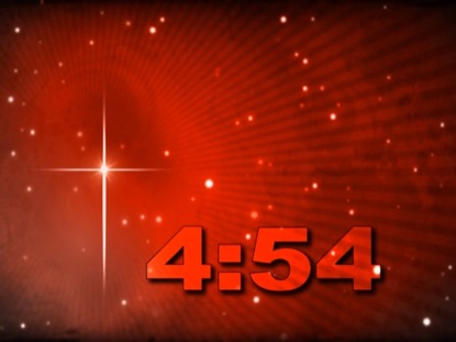 STAR OF BETHLEHEM ON FIERY RED COUNTDOWN