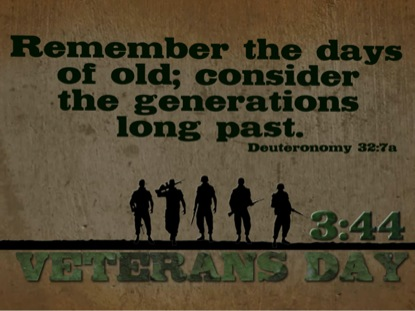 VETERANS DAY BIBLE VERSE COUNTDOWN